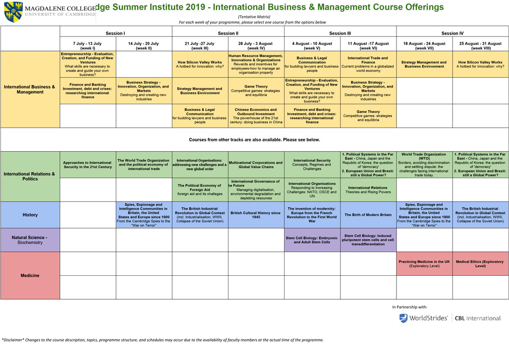 Business & Management Summer Programme | Cambridge Summer Institute