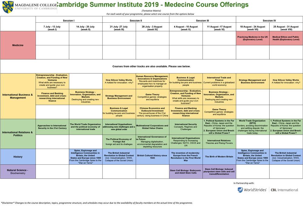 Medicine - Cambridge Summer Institute
